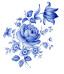 Blå delft - 5 st.