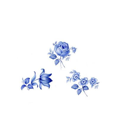 Blå delft 24 mm set av 3  - 5 set