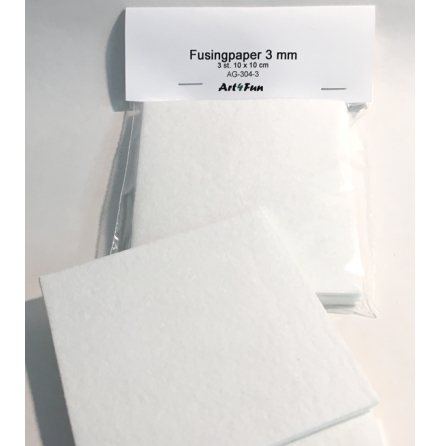Fusingpapper 3 mm - 3 st.