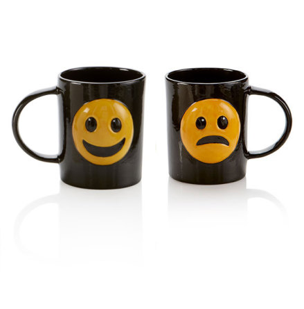 Happy/Sad emoji Mugg - 6 st