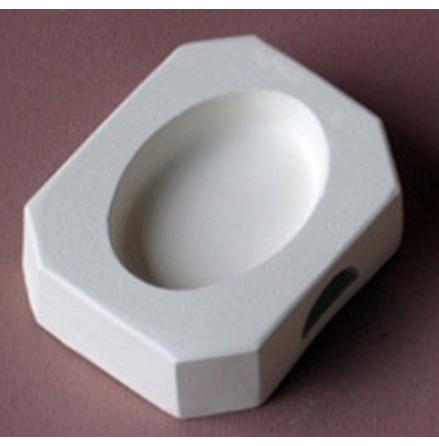 Oval glasform