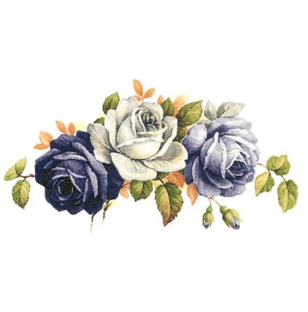 Blåa rosor - 75 mm - 5 st.