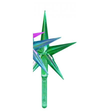 Toppstar - Stjärn mellan grön/pärlamo