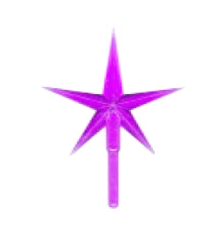 Toppstar - Stjärna medium lila