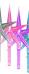 Toppstar/pärlemo - Stjärna mellan pink