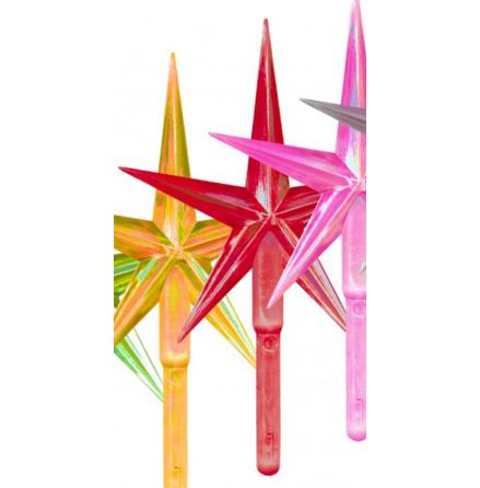 Toppstar - Stjärna mellan röd/pärlamo