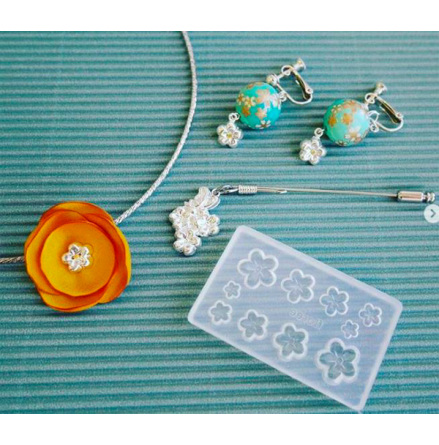 Små blommor - Silikonform