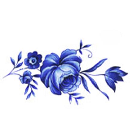 Delft blå - 66 x 35 mm - 5 st.