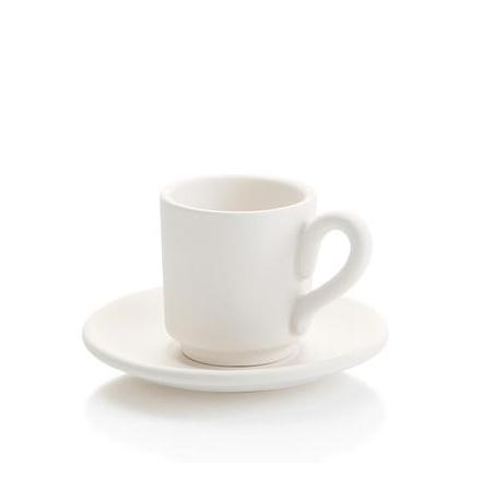 Espressomugg med fat - 12 st.