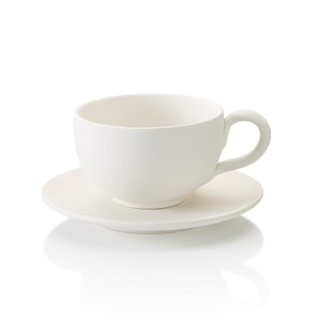 Cappuccinomugg med fat - 8 st.