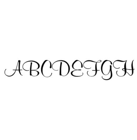 Alfabet elegant 65 bokstäver - 10 mm - 1 ark