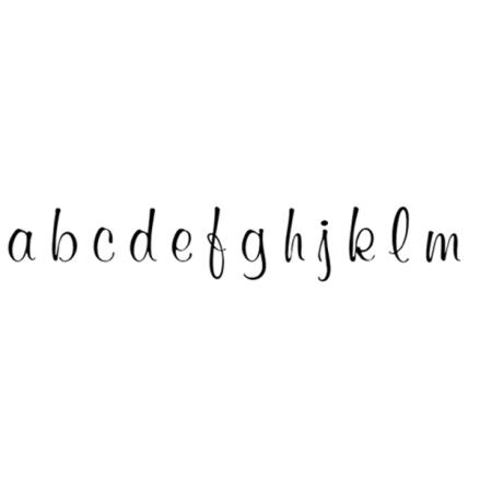 Alfabet elegant small 69 bokstäver - 10 mm - 1 st