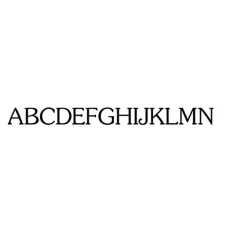Alfabet klassiskt small 78 bokstäver - 5 mm - 1 st
