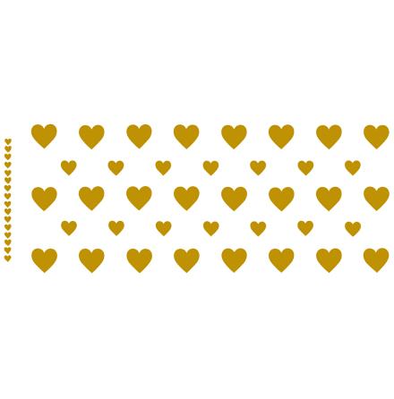 Hjärtan mugg - Guld