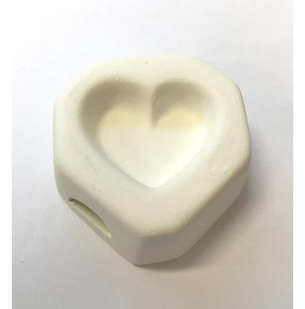 Hjärta glasform