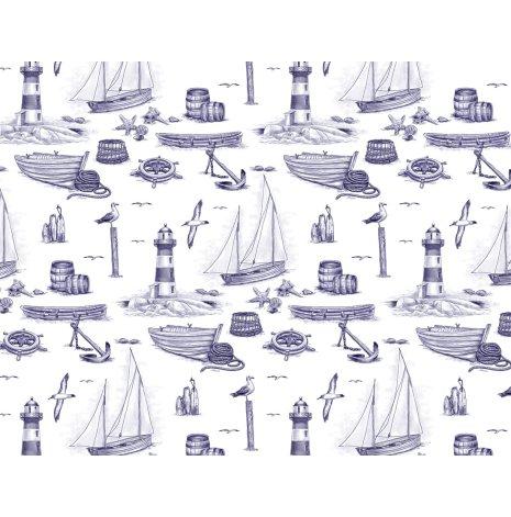 Blå hamn 70x50cm