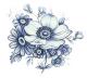 Blå blom - 50 mm - 5 st.