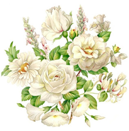 Vit blomsterprakt