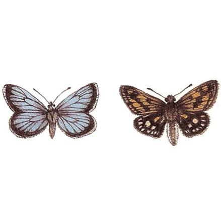 Fjäril & stor mal - 30 x 20 mm - 5 par