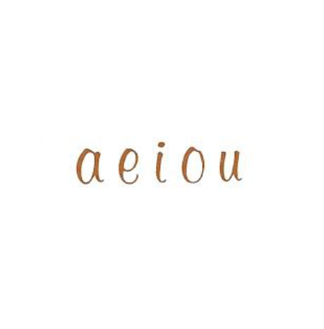 Alfabet sepia elegant vokaler - 5 mm - 4 set vokaler