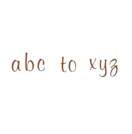 Alfabet sepia elegant small 69 bokstäver - 10 mm - 1 st