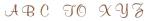 Alfabet sepia elegant 65 bokstäver - 10 mm - 1 ark