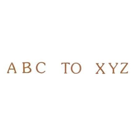 Alfabet sepia klassiskt small 78 bokstäver - 5 mm - 1 st