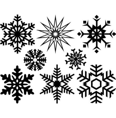Snöflingor stora - Platina