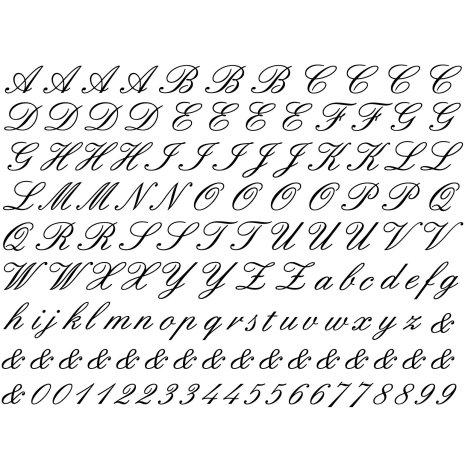 Alfabet Script - Guld