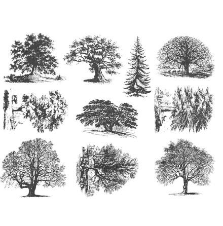 Träd detaljerad - Guld