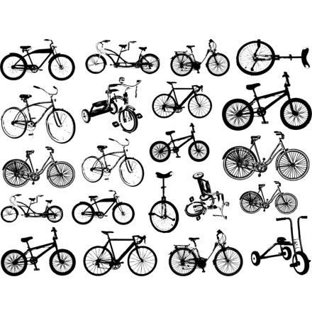 Cykel liten - Guld