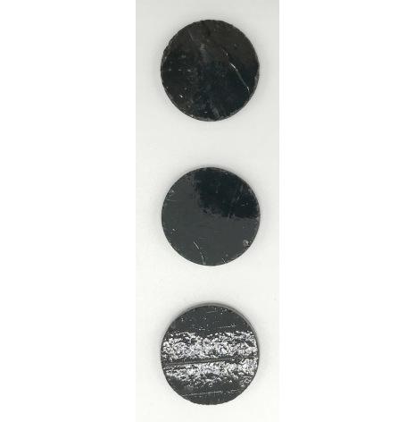 Black Round opal 2 cm