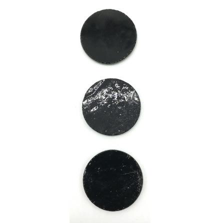 Black Round opal 3 cm