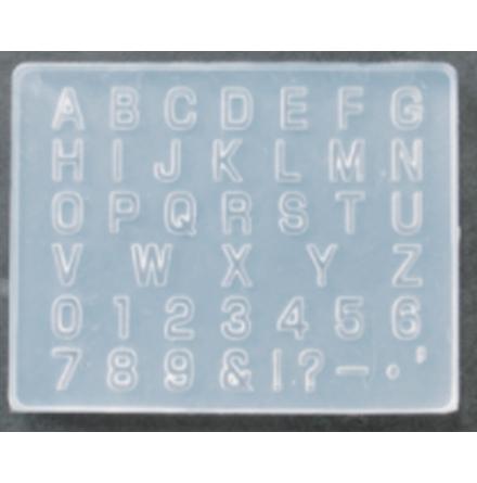 Silikonform - Alfabetform