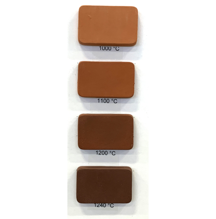 Stengodslera rödbrun med chamotte - 1000-1240°C