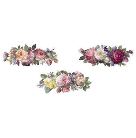 Blomster bukett 50 mm - set av 3