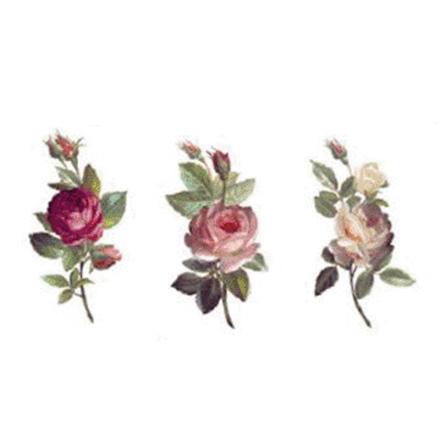 Blomster bukett 30 mm -  3 set av 3